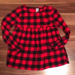 Red and black checkered blouse for girls